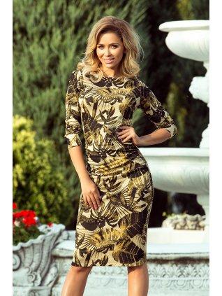 Dámske šaty v medovej farbe 59-8