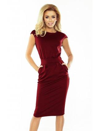 Šaty SARA - Burgundy color 144-7