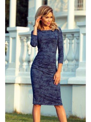 Svetrové šaty modré 59-9