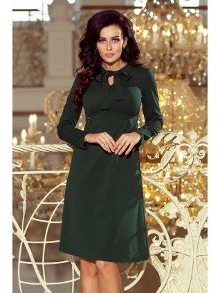 Dámske tmavozelené šaty 158-3