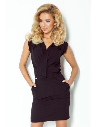 Dress assumed neckline - Black 94-4 (Veľkosť XXL)