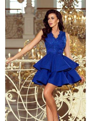 Exkluzívne šaty šaty s Ačkovou suknou blue 200-7