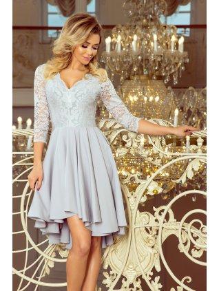 Šaty s krajkovými rukávmi Grey  210-9