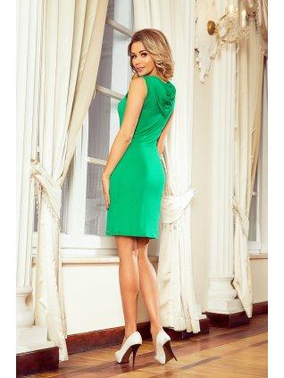 Šaty s kapucnou zelene MM 009-7