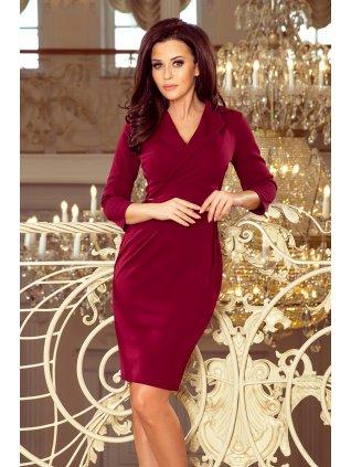 Elegantné šaty burgundy 237-2