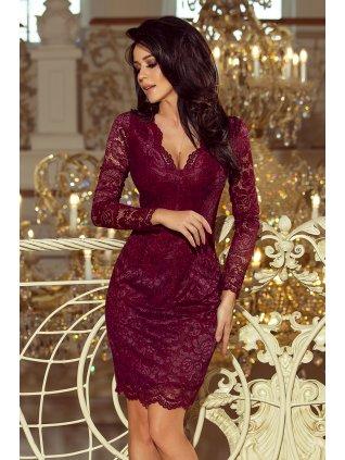 Burgundy  čipkované šaty 170-5