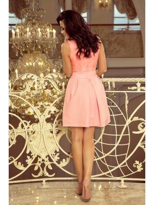 Elegantné šaty s V-čkovym vystrihom pink 208-5