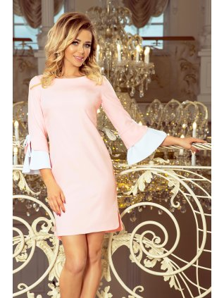 Elegantné pastelovo ružOve šaty GRACE 232-2
