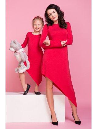 Asymetrické šaty červené