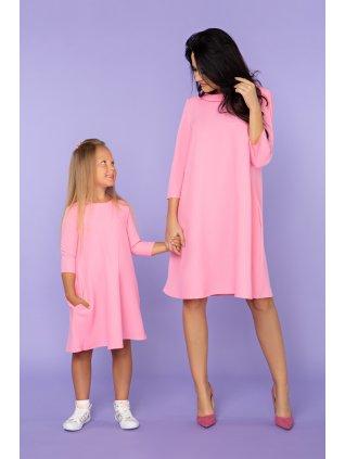 Šaty s vreckami baby pink