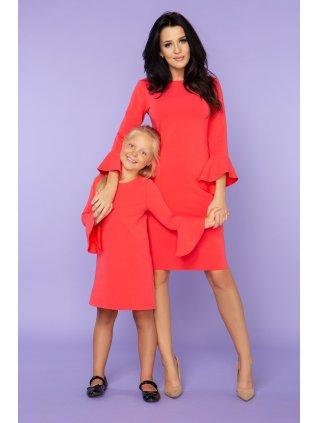 Elegantné šaty coral
