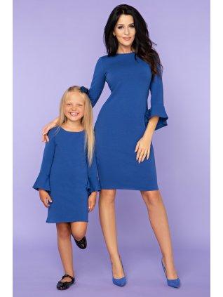 Elegantné šaty kralovska modra