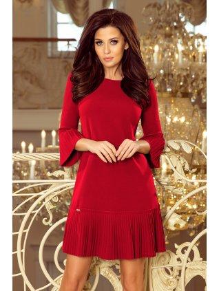 Burgundy šaty LUCY 228-4