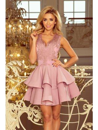 Exkluzívne šaty šaty s Ačkovou suknou lila 200-10