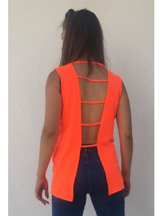 Bavlnene tričko neon orange