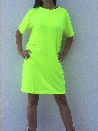 Oversize tričko žlte