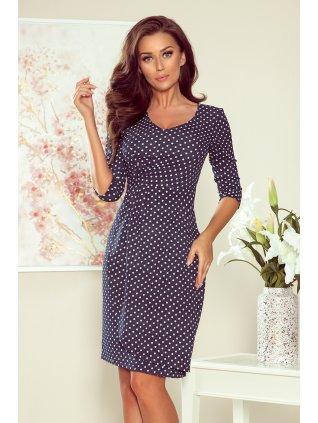 Puzdrové bodkované šaty IRIS 255-1