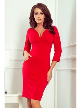 Elegantné červné šaty Missy 269-1