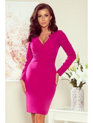 Elegantné šaty fuchsia 272-1