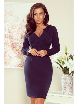 Elegantné šaty tmavomodré 272-2