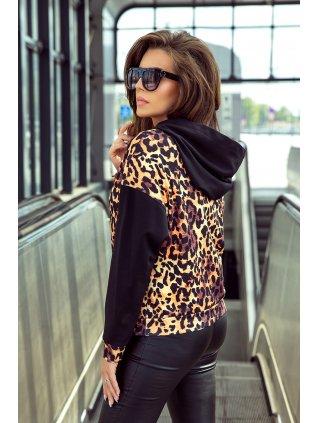 Dámska mikina s leopardím vzorom 279-1