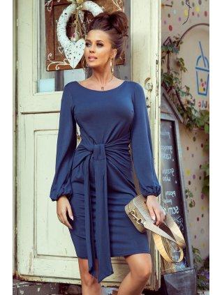 Elegantné tmavomodré šaty Jenny 275-2