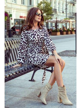 Elegantné leopardie šaty Jenny 275-3