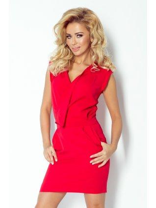 Dress assumed neckline - Red 94-2 (Veľkosť XL)