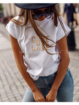 Bavlnene tričko s nápisom
