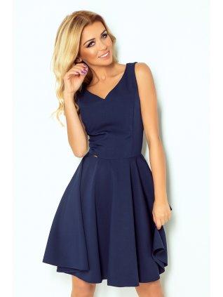 Šaty s kruhovou sukňou tmavo modré 114-7
