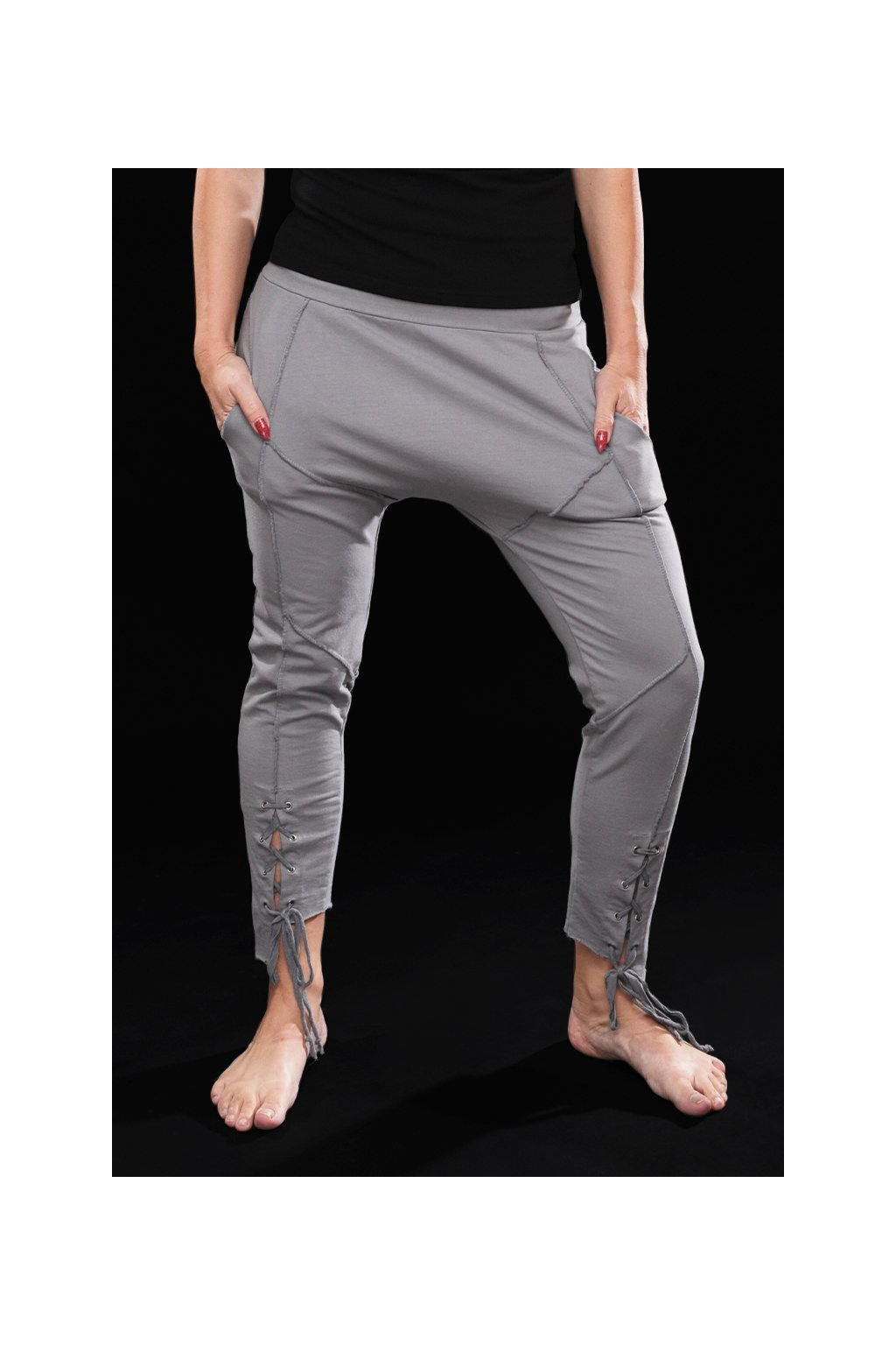 Kalhoty baggy LAIMB 018 SILVER1