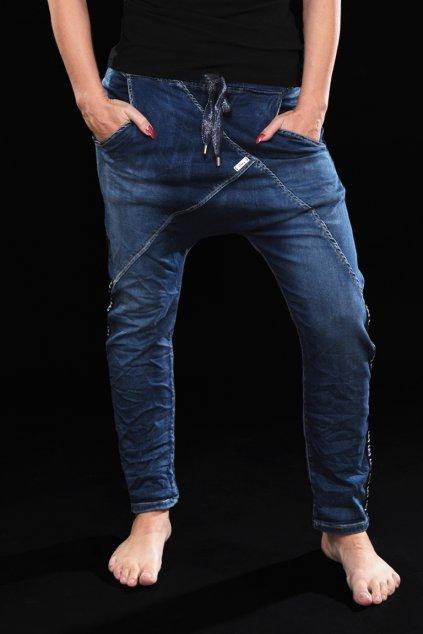 Džínové baggy STRETCH BLUE1
