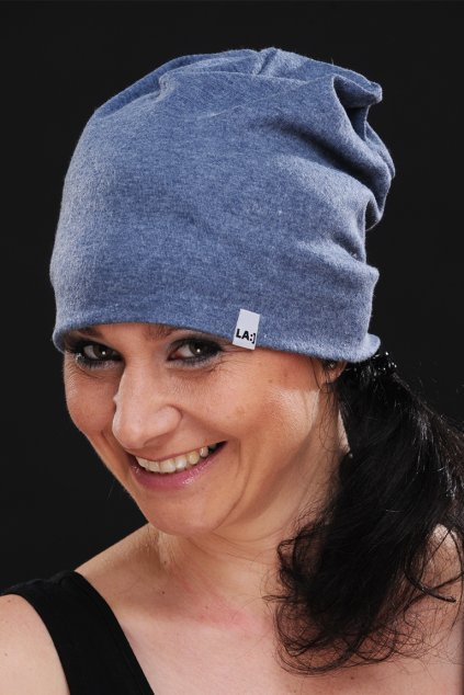 Bavlněná čepice BLUE MELANGE