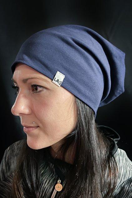 Bavlnena cepice LASENKA DARK NAVY BLUE 1