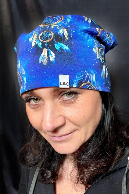 Bavlnena cepice LASENKA blue dream catcher 1
