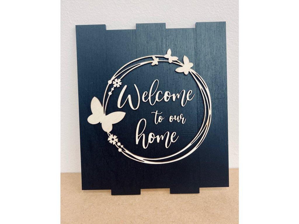 drevená dekoracia-drevo-dekoracia, welcome to our home
