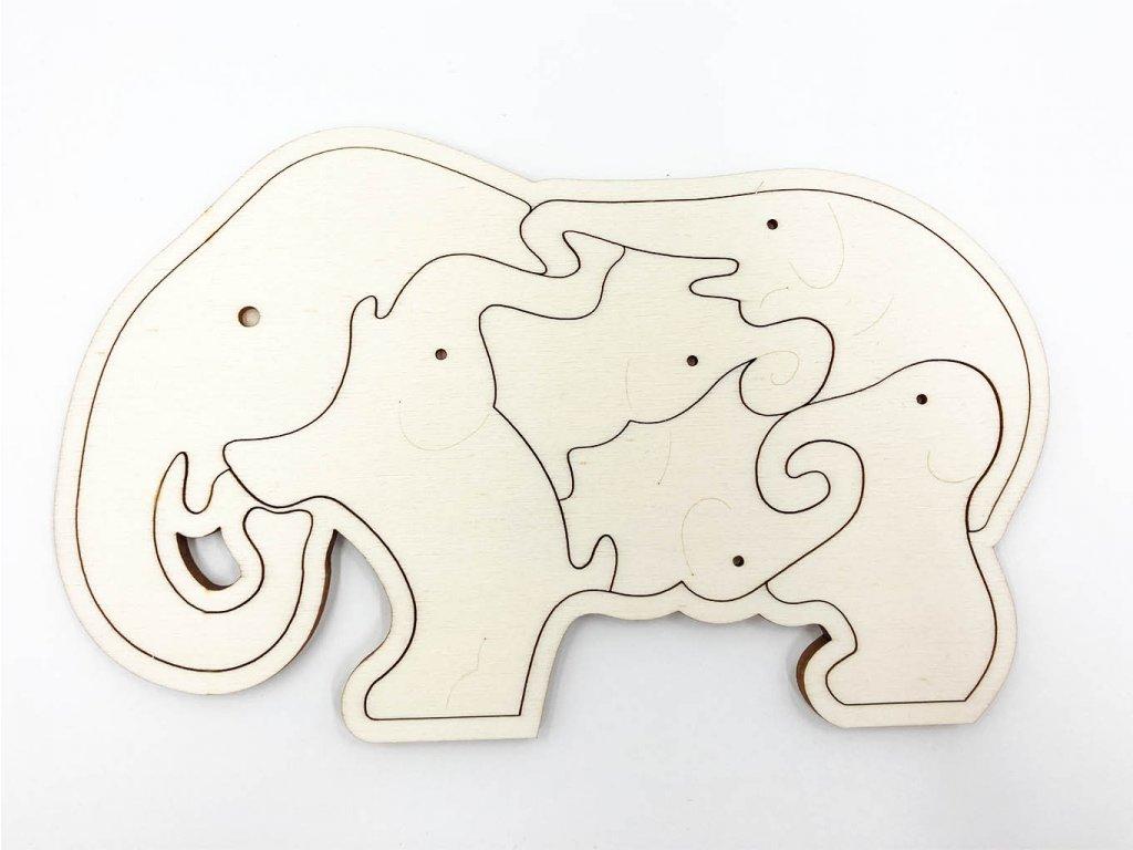drevene puzzle-puzzle-slon-slonik-puzzle-drevo-montessori
