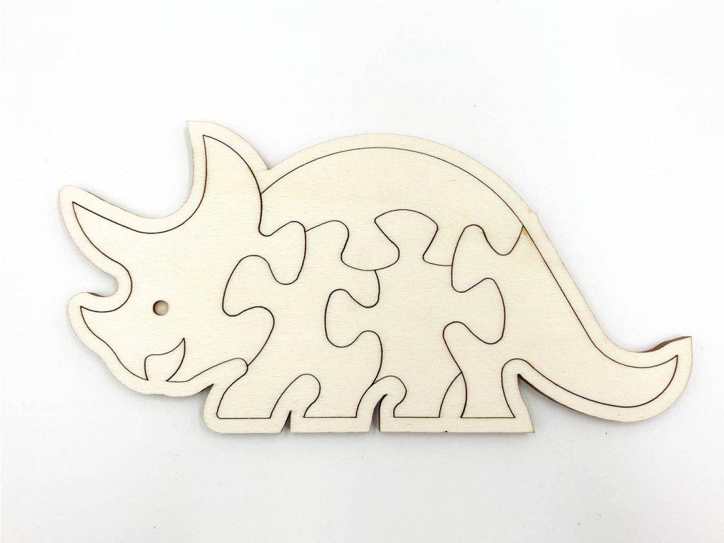 drevene puzzle-puzzle-dinosaurus-puzzle-drevo-montessoripuzzle dino