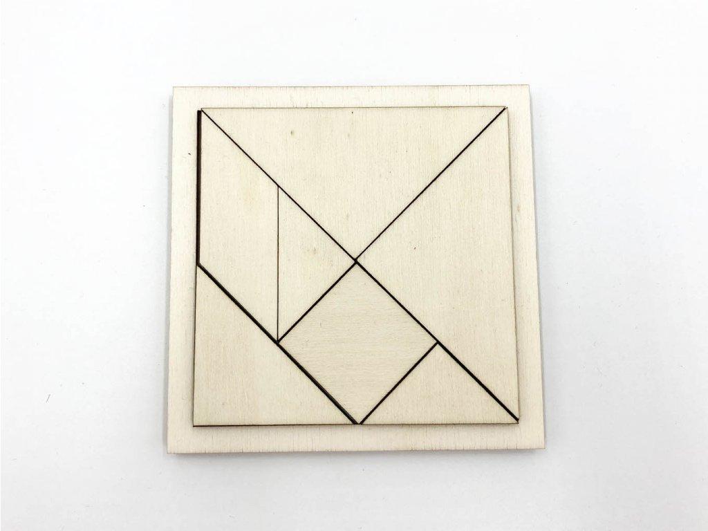 tangram - dreveny tangram - hlavolam