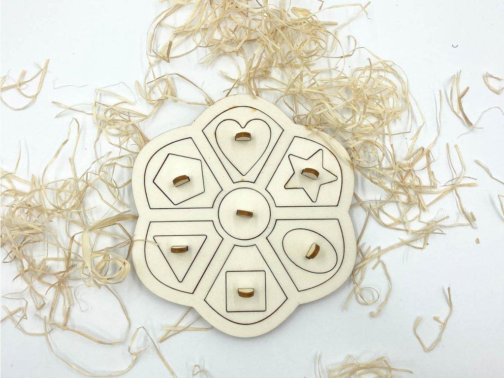 drevena kvetina-puzzle-tvary