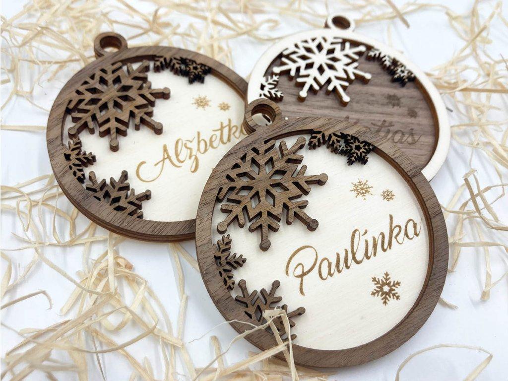 ozdoba s menom, personalizovana ozdoba, vianocna ozdoba, vianocna dekoracia