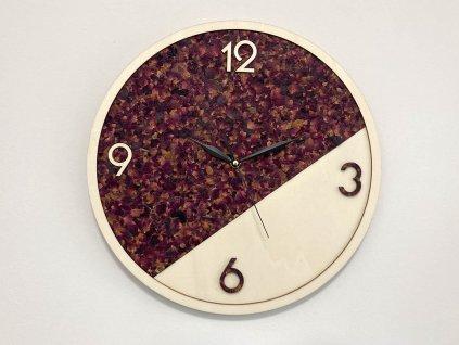 nastenne hodiny Rosa-hodiny-drevene hodiny-organoid-ruza