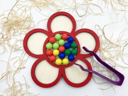 kvetina s gulockami, triedenie farieb, montessori