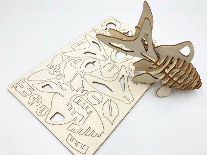 3d fish-drevene puzzle 3d- ryba - puzzle
