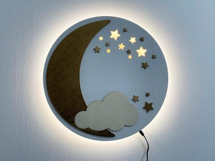 nocna lampa-drevena lampa, lampa do detskej izby