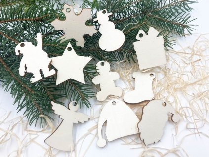 vianocne menovky, drevene menovky, vianoce