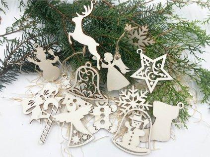 vianocne ozdoby, drevene ozdoby, vianocne ozdoby