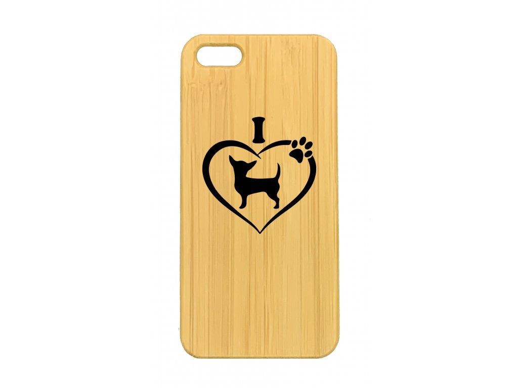 iPhone 5,5s Čivava srdce