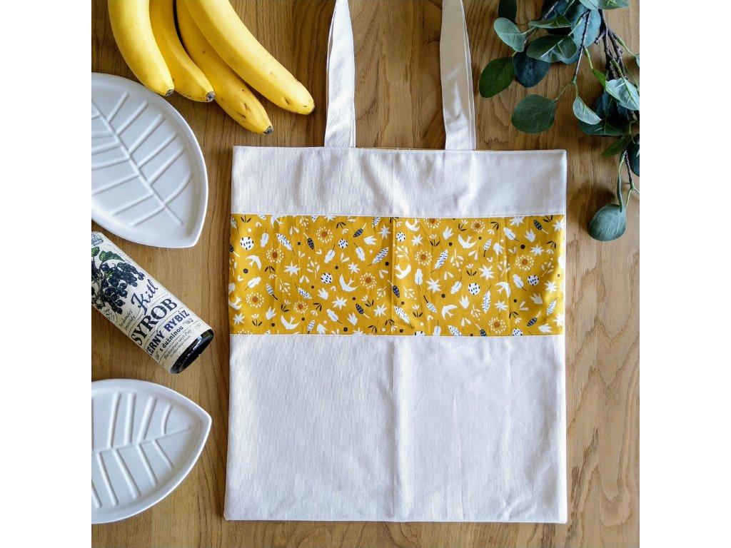 Plátěnka Babí léto  z designové bavlny a pevného kanvasu