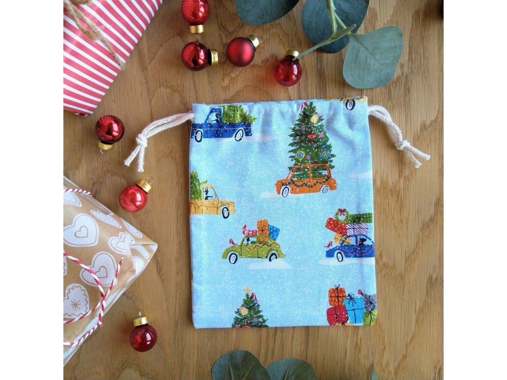 Malý dárkový pytlíček Auta  Vánoční limitka